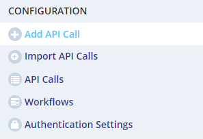 make API call add API call