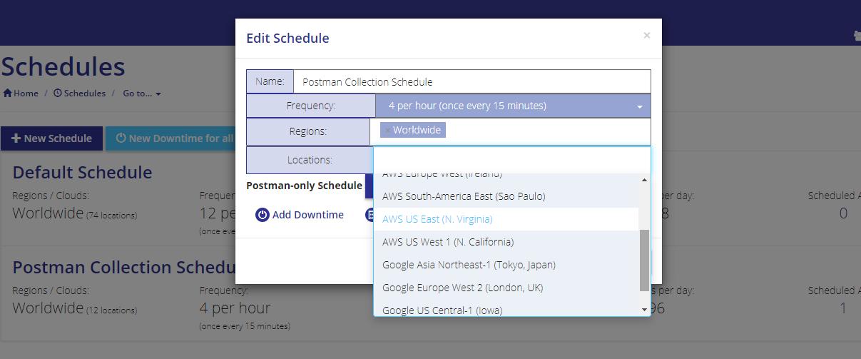 Postman Schedules