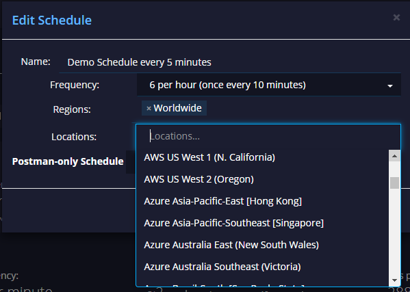 API schedule agents