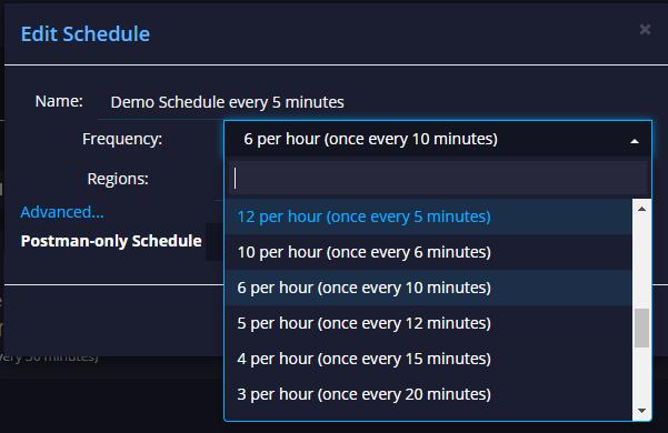 API schedule